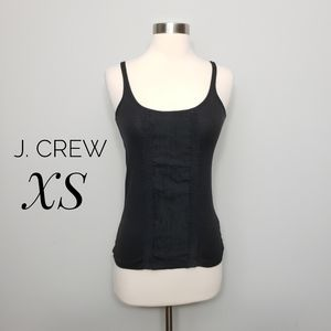 J. CREW black perfect fit ribboned camisole top